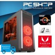Računalo MagazinRS AMD Ryzen 5 2400G 3.60 GHz, Radeon Vega 11, 8GB DDR4 RAM, 1TB HDD, DVD-RW