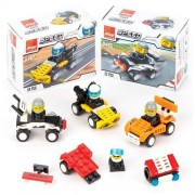 Speed Racer Building Brick Kits - 4 Building Bricks For Building your Own Race Cars In 4 Different Designs. Size: 7cm