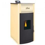 Termosemineu pe peleti Ferroli Salerno Pellet 30 kW, panou digital cu touchscreen. 5 ani garantie