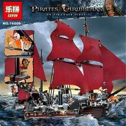 Generic LEPIN Movie Series 16009 115 Queen Anne's Revenge Pirates of The Caribbean Building Blocks Set Compatible with 4195 Gifts