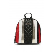 LOVE Moschino Croc Embossed Backpack BLACK