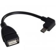 FAST ASIA Adapter USB 2.0 (F) to USB Micro (M) - OTG pod uglom 10cm crni