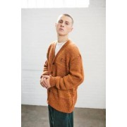 Urban Outfitters UO - Cardigan en maille jaune et orange- taille: XL