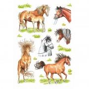 Geen Getekende paarden stickers 3 vellen