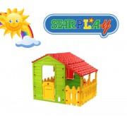Casetta/Casa da giochi per bimbi da interno e esterno e giardino in termoplastica StarPlay - Farm Play House
