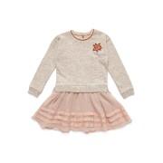 【72%OFF】異素材コンビ ドッキングドレス ピンクベージュ 10 ベビー用品 > 衣服~~ベビー服