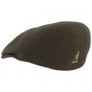 Kangol Cap 504 aus Wolle Dunkelgrün / loden XXL