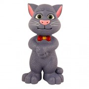 Rvold Big size Intelligent Touching Talking Tom Cat with wonderful voice, Stories and Songs, Touch Functions (Grey)