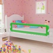 vidaXL Ограничител за бебешко легло, зелен, 180x42 см, полиестер