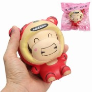 Doll Wearing Tiger Squishy Toys
