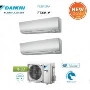 Daikin Climatizzatore Condizionatore Daikin Dual Split Inverter Serie M Ftxm R-32 Perfera 2018 Bluevolution 9000+9000 Con 2mxm50m/m9