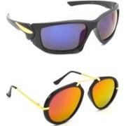 Hrinkar Sports Sunglasses(Blue, Pink)