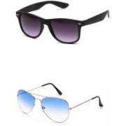Aoking Wayfarer Sunglasses(Grey, Blue)