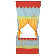 roba Door Kasperle Theatre, Space Saving School Children Puppet Theater, Theater with Fabric Cover