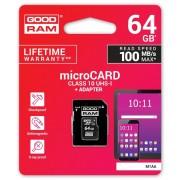 Goodram Karta pamięci microSDXC 64GB CL10 UHS 1 z adapterem (M1AA-0640R12)