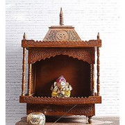 Shilpi Handcrafted Wooden Sheesham Temple / Mandir /Handicrafts Home Temple/ Wooden Temple/ Pooja Mandir/ Mandap/ Temple