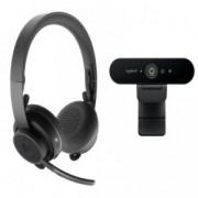 Set Zone Wireless Headset + Brio 4K Webcam