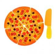 MagiDeal Set Of 6PCS Plastic Pizza Slices Kitchen Pretend Play Set Developmental Kids Children Toy Fun Game