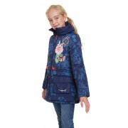 Desigual modrý dívčí kabát Chaq Pera