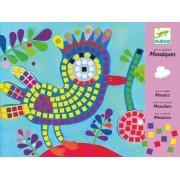 DJECO Zestaw artystyczny Ptaki i Biedronki - Mozaiki dla dzieci do wyklejania, DJ08894
