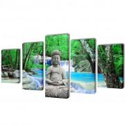 vidaXL Декоративни панели за стена Буда, 200 x 100 см