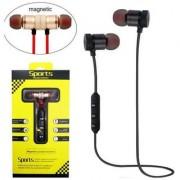 Sports Bluetooth Magnet Earphone In Ear Wireless Earphones With Mic(multicolour)