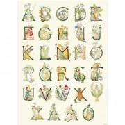 Hjelms Poster Blomster ABC