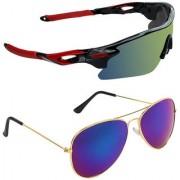 Zyaden Combo of 2 Sunglasses Sport and Aviator Sunglasses- COMBO 2744