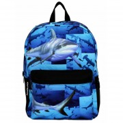 Mojo Mochila Shark Tank Backpack Polyester Backlight Tablet Glow In The Dark