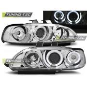 Přední světla, lampy Angel Eyes Honda Civic 91-95 chromová, 2dv+3dv.