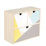 Cutie organizator din lemn cu 2 sertare - verde