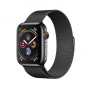 Умные часы Apple Watch Series 4 GPS + Cellular 44mm Stainless Steel Case with Milanese Loop Black (Черный) MTX32