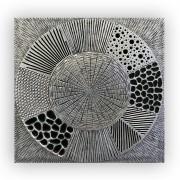 Tablou MYSTERIOUS, lemn, 80x4x80 cm