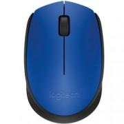Мишка Logitech M171, оптична (1000 dpi), безжична, до 10м обхват, USB, синя