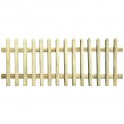 vidaXL Gard din țăruși, lemn de pin tratat, 170x100 cm 5/7 cm