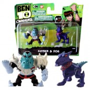 Bandai Year 2013 Ben 10 Omniverse Series 2 Pack 2 Inch Tall Mini Action Figure Set - Khyber and Dog