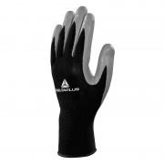 DELTA PLUS Lot de 10 paires de gants de manutention tricot polyester paume nitrile DELTAPLUS VE712GR