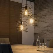 Hanglamp Twister 3Lampen van 40 cm breed - charcoal