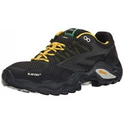 Hi-Tec Men's V Lite Flash Force Low I WP Trail Shoe CHARCOAL/BLACK/SUNRAY 8 D(M) US