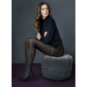 Fiore September - 60 denier opaque diamond pattern tights