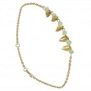 Oscar Bracelet roseaux, plaqué or (vert pâle) Oscar