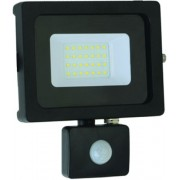 Slim smd led reflektor 10W mozgásérzékelővel, IP65, 880 Lumen, 120°, 6000 K, hideg fehér. Life Light Led.