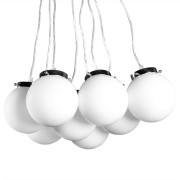 Suspension design 'PEARLS' 8 boules suspendues blanches