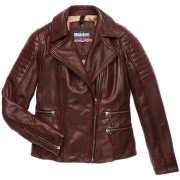 Blauer USA Icon Ladies Leather Jacket Brown S