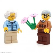 LEGO City MiniFigure: Grandma & Grandpa Couple Combo (w/ Flowers) 60134