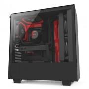 NZXT Caja SemiTorre H500 Matte Black/Red