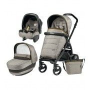 Carucior 3 in 1, Peg Perego, Book Plus, Black Matt, Completo Elite