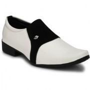 BB LAA Men's White Slip on Smart Formals Shoes