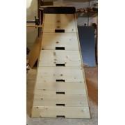 Lada gimnastica trapezoidala h 120 - L 160 cm