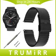 22mm Milanese Strap Quick Release for LG G Watch W100 / R W110 / Urbane W150 Pebble Time / Steel Stainless Steel Band Bracelet